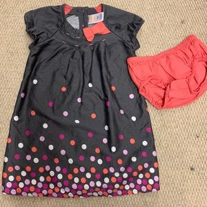 Baby girls Gymboree dress with matching bloomers.